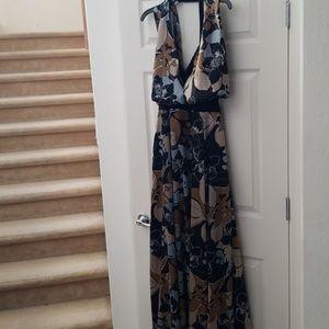 Igigi Maxi Halter Dress Floral 14 / 16 Elegant